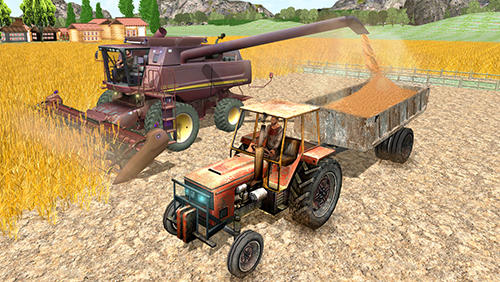 Screenshots von Tractor simulator 3D: Farm life für Android-Tablet, Smartphone.
