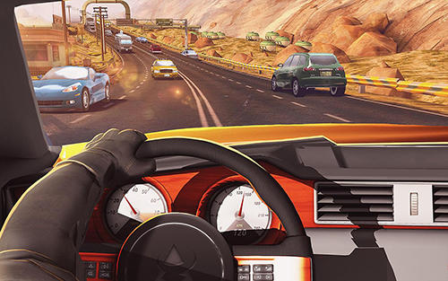 Traffic xtreme 3D: Fast car racing and highway speed screenshot 3