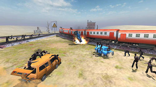 Screenshots von Train shooting: Zombie war für Android-Tablet, Smartphone.