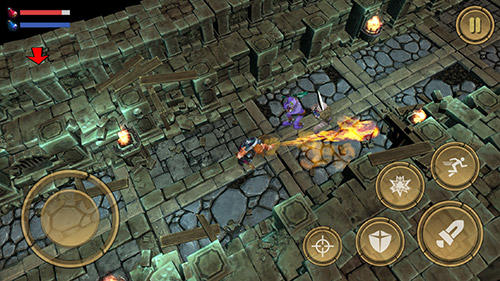 Screenshots of the Treasure hunter. Dungeon fight: Monster slasher for Android tablet, phone.