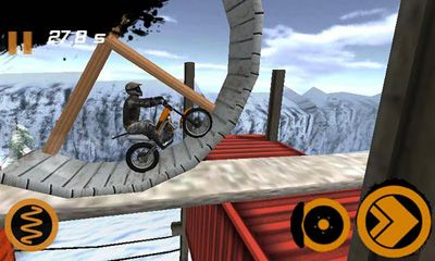 Android タブレット、携帯電話用Trial Xtreme 2 HD Winterのスクリーンショット。