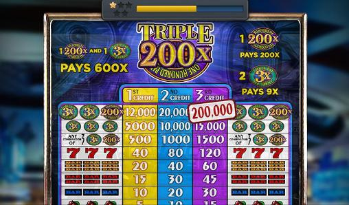 Capturas de pantalla de Triple 200x one hundred pay: Slot machine para tabletas y teléfonos Android.