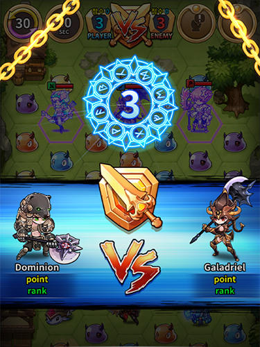 Triple chain: Strategy and puzzle RPG screenshot 1