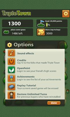 Screenshots von Triple Town für Android-Tablet, Smartphone.