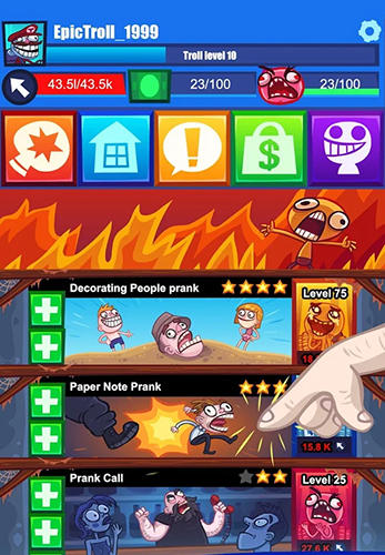 Screenshots von Troll face clicker quest für Android-Tablet, Smartphone.