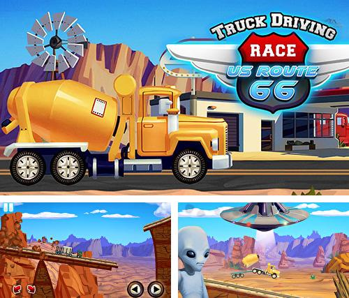 Truck driving race US route 66