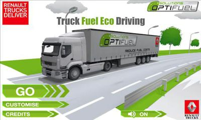 Truck Fuel Eco Driving poster