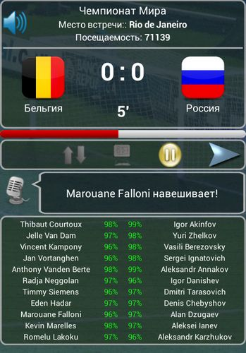 Screenshots von True football national manager für Android-Tablet, Smartphone.