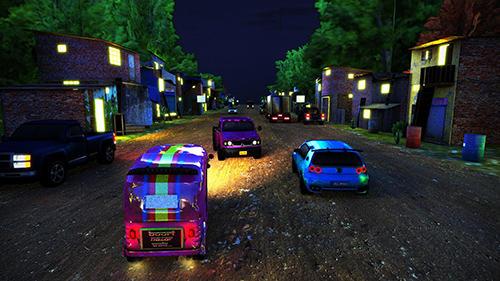 Screenshots of the Tuk tuk drive traffic simulator 3D. Rickshaw traffic street racing for Android tablet, phone.
