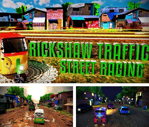 Tuk tuk drive traffic simulator 3D. Rickshaw traffic street racing