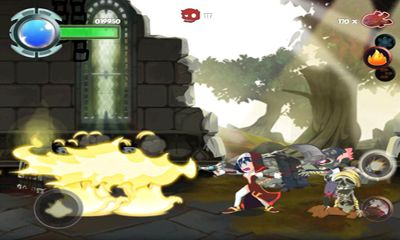 Screenshots of the Twin Blades for Android tablet, phone.
