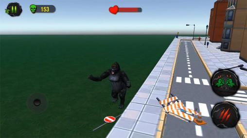 Screenshots von Ultimate gorilla rampage 3D für Android-Tablet, Smartphone.