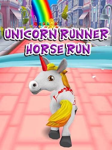 Unicorn runner 3D: Horse run