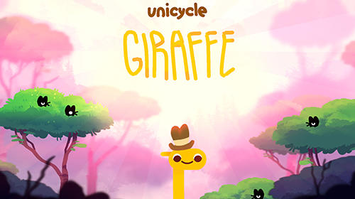 Unicycle giraffe poster