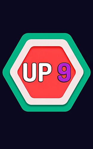 Up 9: Hexa puzzle! Merge numbers to get 9