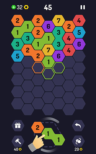 Download Up 9: Hexa puzzle! Merge numbers to get 9 Android free game.