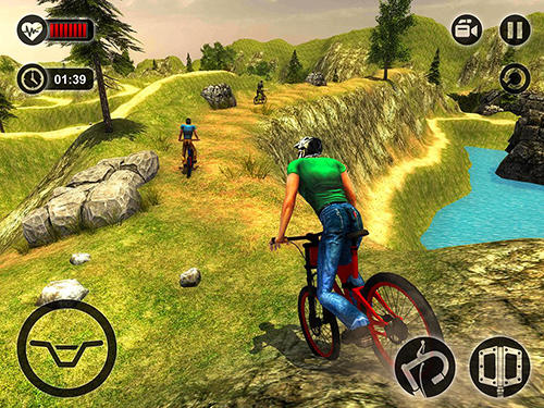 Гра Uphill offroad bicycle rider на Android - повна версія.
