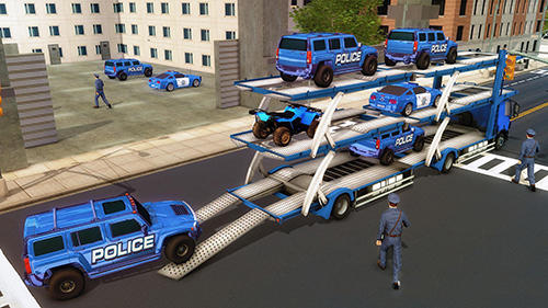 US police Hummer car quad bike transport screenshot 2