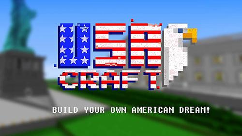 USA block craft exploration 3D poster