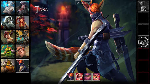 Screenshots of the Vainglory for Android tablet, phone.