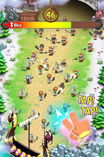 Screenshots von Viking heroes war für Android-Tablet, Smartphone.