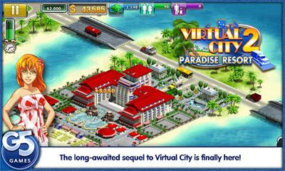 Virtual City 2 Paradise Resort screenshot 1