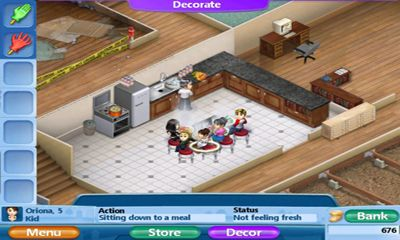 Screenshots von Virtual Families 2 für Android-Tablet, Smartphone.