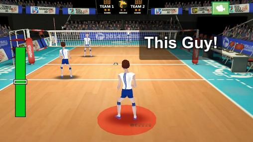 Screenshots von Volleyball champions 3D 2014 für Android-Tablet, Smartphone.
