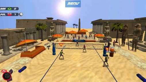 Screenshots of the Volleyball: Extreme edition for Android tablet, phone.