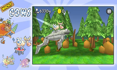 Screenshots of the Wacky Cows for Android tablet, phone.