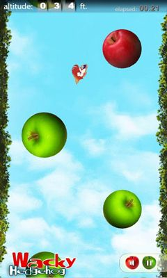 Screenshots of the Wacky Hedgehog jump for Android tablet, phone.
