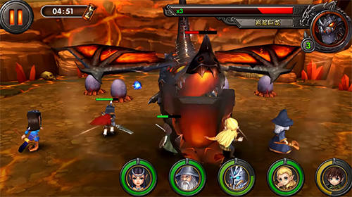 Screenshots of the War of dragon ring for Android tablet, phone.