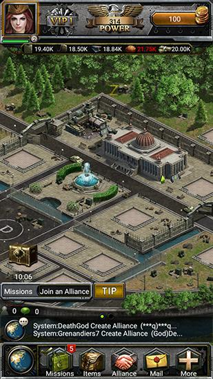 Écrans de War of iron and blood pour tablette et téléphone Android.