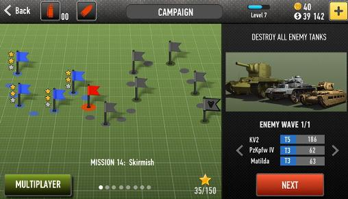 Screenshots of the War of tanks: Online for Android tablet, phone.