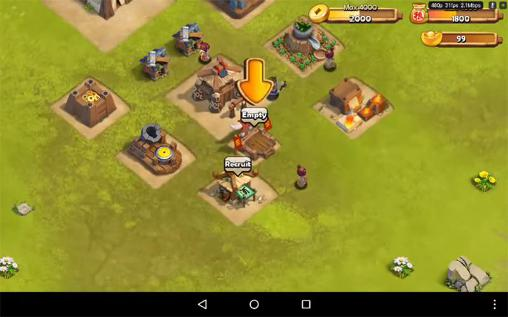 Screenshots von War saga: Heroes rising für Android-Tablet, Smartphone.