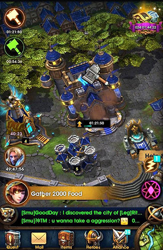 Screenshots do War storm: Clash of heroes - Perigoso para tablet e celular Android.