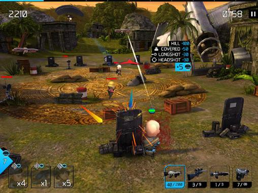Screenshots of the Warfriends for Android tablet, phone.