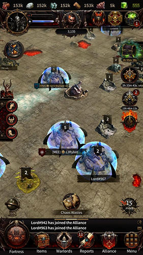 Геймплей Warhammer: Chaos and conquest. Build your warband для Android телефону.
