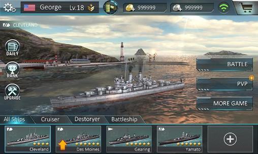 Screenshots von Warship attack 3D für Android-Tablet, Smartphone.