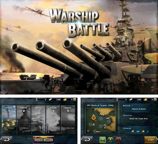 In addition to the game Naval frontline for Android phones and tablets, you can also download Warship battle: 3D World war 2 for free.