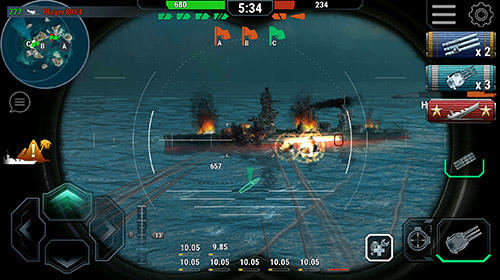 Гра Warships universe: Naval battle на Android - повна версія.
