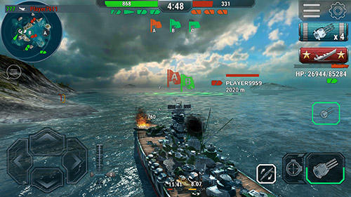 Screenshots von Warships universe: Naval battle für Android-Tablet, Smartphone.