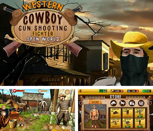 Western cowboy gun shooting fighter open world