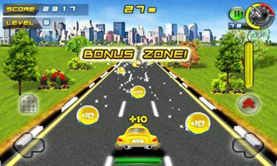 Screenshots of the Whacksy Taxi for Android tablet, phone.