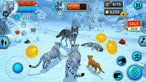 White tiger family sim online for Android - Download APK free