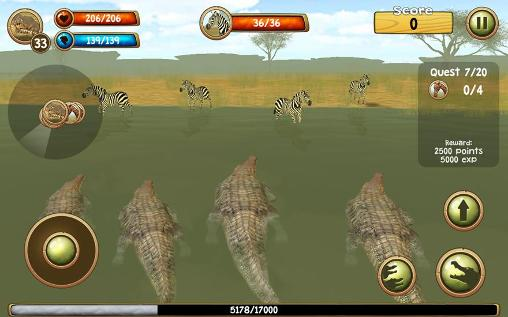 Wild crocodile simulator 3D screenshot 1