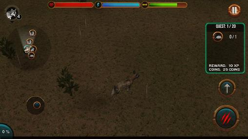Screenshots von Wild dog simulator 3D für Android-Tablet, Smartphone.