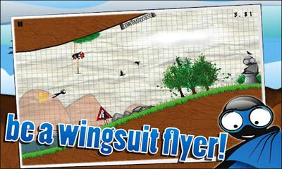 Wingsuit Stickman скриншот 2