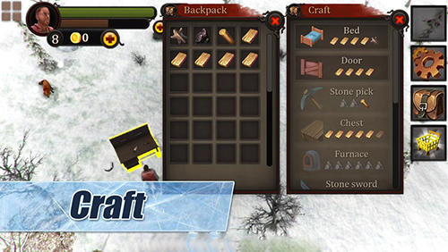 Capturas de pantalla de Winter Island: Crafting game. Survival Siberia para tabletas y teléfonos Android.