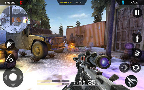 Screenshots von Winter mountain sniper: Modern shooter combat für Android-Tablet, Smartphone.